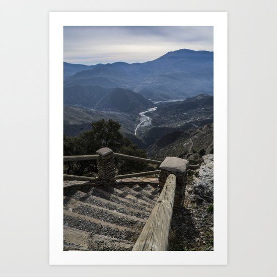 A view to the valley Art Print