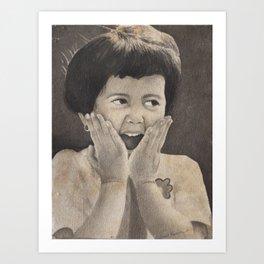 The Girl, Expressing Joy Art Print