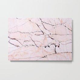 Light pink marble detail Metal Print