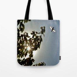 Sunlit Hummingbird Tote Bag