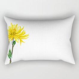 one yellow chrysanthemum Rectangular Pillow