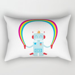 Skipping a Rainbow Rectangular Pillow