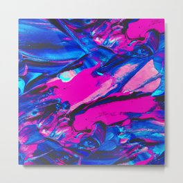 Marble Abstract Oil Painting Metal Print