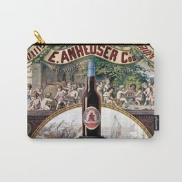 Vintage 1879 St. Louis Anheuser Brewing Lithograph Wall Art Carry-All Pouch