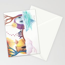 Penguins Connect on the Bridge Between Their Homes Stationery Cards