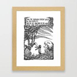 William Blake Illustration Framed Art Print