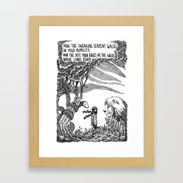 William Blake Illustration Framed Art Print