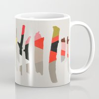 camus Mugs featuring painted twigs 1 by Garima Dhawan