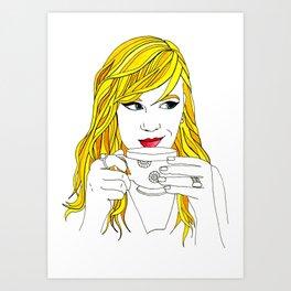 Rainbow Girl: Yellow Art Print