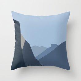 Yosemite Tunnel View (2) Throw Pillow