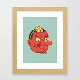 Tengu Mask Framed Art Print