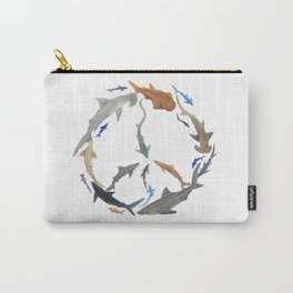 Peace for Sharks Carry-All Pouch