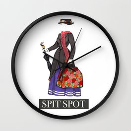 Mary Poppins Spit Spot Wall Clock