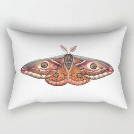Small Emperor Moth (Saturnia pavonia) Rectangular Pillow