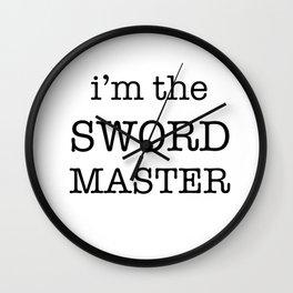 sword master Wall Clock