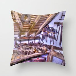 Victorian Workshop Throw Pillow