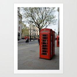 London Phone Booth Art Print
