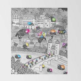 Locals Only - Heidelberg, Germany Throw Blanket