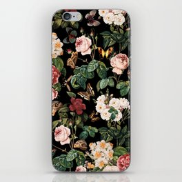 Floral and Butterflies iPhone Skin
