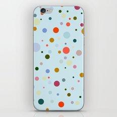 Blue Confetti iPhone & iPod Skin