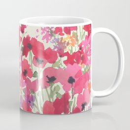 Big Red Poppy Patch Coffee Mug