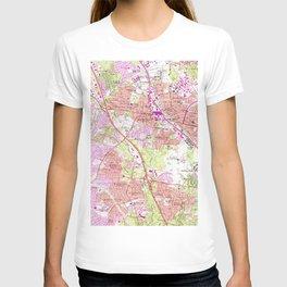 Vintage Map of Rockville Maryland (1965) T-shirt