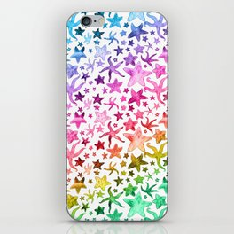 Rainbow Starfish Pattern iPhone Skin