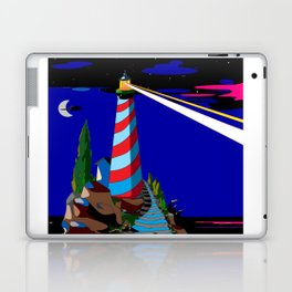 A Night at the Lighthouse with Search Light Active Laptop & iPad Skin