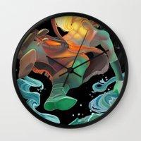 avatar Wall Clocks featuring Avatar by Andrea Montano