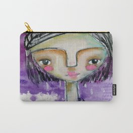 Girl in Purple Carry-All Pouch
