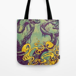 Epiphycadia III: Teal Tote Bag