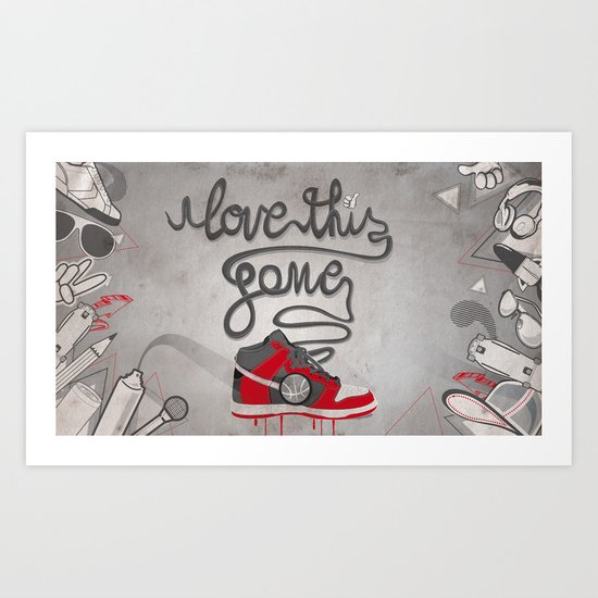i love this game Art Print