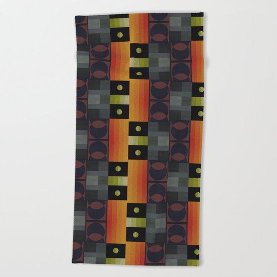 Abstract #186 Beach Towel