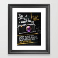 Life is like a Camera Framed Art Print