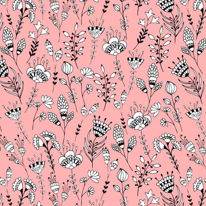 Floral pink pattern Comforters