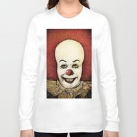 pennywise Long Sleeve T-shirts featuring It - Pennywise (Color Version) by Sinpiggyhead