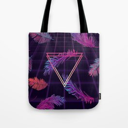 80's Retro Cyberpunk Synthwaves Dominating the Future Tote Bag