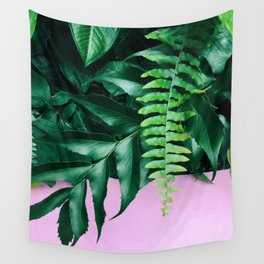 pink and foliage ii Wall Tapestry