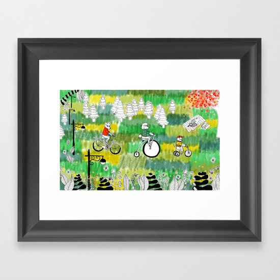 A Day in the Park Framed Art Print