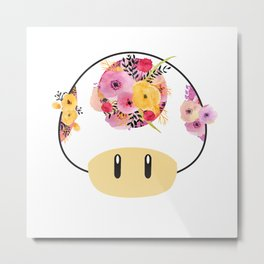 Toad in Bloom - White Background Metal Print