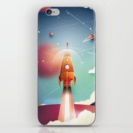 Colour Rocket iPhone Skin