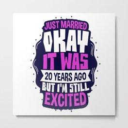 Wedding Anniversary 20 Years Metal Print
