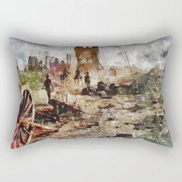 Destruction, World War One Rectangular Pillow