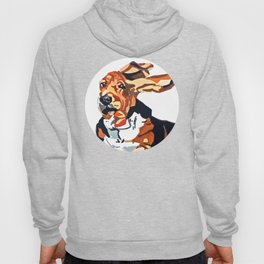 Basset Hound Flying Ears Portrait Hoody