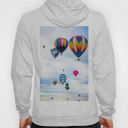 Cute seal, Wolf and Penguin Hot Air Ballons Hoody