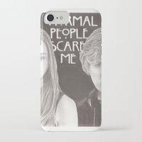 kris tate iPhone & iPod Cases featuring Violet & Tate by JadeJonesArt