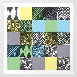 Colour block pastel Art Print