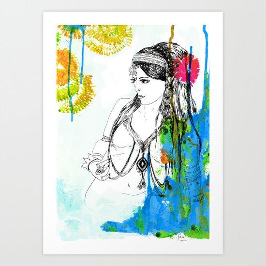 Tribal Beauty 6 Art Print