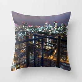 London bokeh Throw Pillow