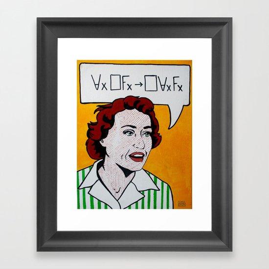 Ruth Barcan Marcus Framed Art Print